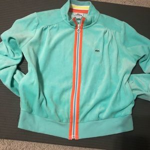Lacoste zip up terry sweat suit